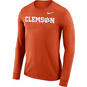 Nike Men's Clemson Tigers Orange Football Dri-FIT Facility Long Sleeve T-Shirt