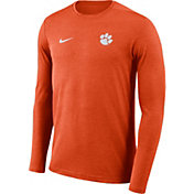 Nike Men's Clemson Tigers Orange Football Dri-FIT Coach Long Sleeve T-Shirt