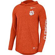 Nike Men's Clemson Tigers Orange Marled Long Sleeve Hooded Sideline T-Shirt