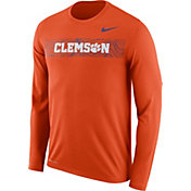 Nike Men's Clemson Tigers Orange Dri-FIT Legend Long Sleeve Sideline T-Shirt