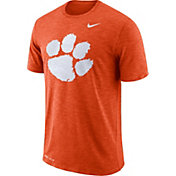 Nike Men's Clemson Tigers Orange Dri-FIT Football Sideline Slub T-Shirt