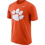 Nike Men's Clemson Tigers Orange Dri-FIT Football Sideline Slub T-Shirt