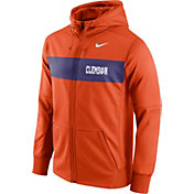 Nike Men's Clemson Tigers Orange Therma-FIT Full-Zip Sideline Hoodie