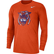 Nike Men's Clemson Tigers Heathered Orange Vault Tri-Blend Long Sleeve Tee