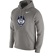 Nike Men's UConn Huskies Grey Club Hoodie