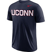 Nike Men's UConn Huskies Blue Wordmark T-Shirt