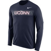 Nike Men's UConn Huskies Blue Dri-FIT Legend Long Sleeve Sideline T-Shirt