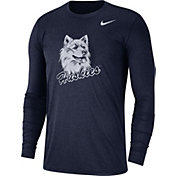 Nike Men's UConn Huskies Heathered Blue Vault Tri-Blend Long Sleeve Tee