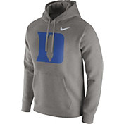 Nike Men's Duke Blue Devils Grey Club Fleece Hoodie