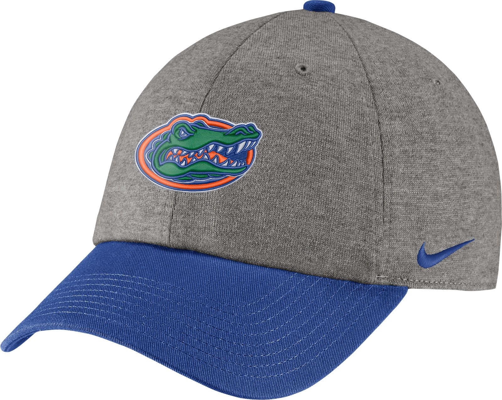 3e5ed801372 ... italy nike mens florida gators grey blue heritage86 heather adjustable  hat c4d8a 2bcf6
