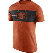 Nike Men's Florida Gators Orange Logo Basketball T-Shirt