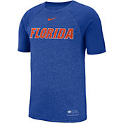 Nike Men's Florida Gators Blue Raglan Sideline T-Shirt
