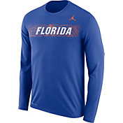 Jordan Men's Florida Gators Blue Dri-FIT Legend Long Sleeve Sideline Tee