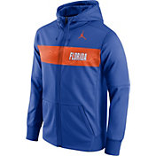 Jordan Men's Florida Gators Blue Therma-FIT Full-Zip Sideline Hoodie
