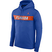 Jordan Men's Florida Gators Blue Therma-FIT Pullover Sideline Hoodie