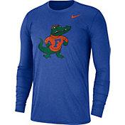 Nike Men's Florida Gators Heathered Blue Vault Tri-Blend Long Sleeve Tee