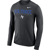 Nike Men's Air Force Falcons Grey Football Dri-FIT Facility Long Sleeve T-Shirt