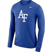 Nike Men's Air Force Falcons Blue Dri-FIT Logo Long Sleeve Shirt
