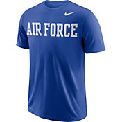 Nike Men's Air Force Falcons Blue Wordmark T-Shirt