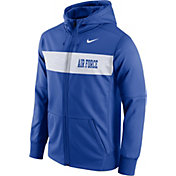 Nike Men's Air Force Falcons Blue Therma-FIT Full-Zip Sideline Hoodie