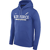 Nike Men's Air Force Falcons Blue Football Sideline Pullover Therma-FIT Hoodie