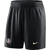 Nike Men's Florida State Seminoles Fly Knit Football Black Shorts