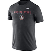 Nike Men's Florida State Seminoles Grey Football Dri-FIT Facility T-Shirt