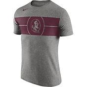 Nike Men's Florida State Seminoles Grey Logo Basketball T-Shirt