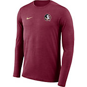 Nike Men's Florida State Seminoles Garnet Football Dri-FIT Coach Long Sleeve T-Shirt