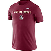 Nike Men's Florida State Seminoles Garnet Football Dri-FIT Facility T-Shirt
