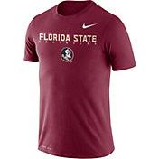 Nike Men's Florida State Seminoles Garnet Football Dri-FIT Facility T-Shirt