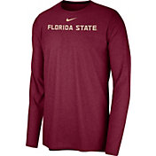 Nike Men's Florida State Seminoles Garnet Football Dri-FIT Player Long Sleeve T-Shirt