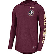 Nike Men's Florida State Seminoles Garnet Marled Long Sleeve Hooded Sideline T-Shirt