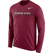 Nike Men's Florida State Seminoles Garnet Dri-FIT Legend Long Sleeve Sideline T-Shirt