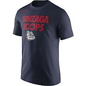 Nike Men's Gonzaga Bulldogs Blue 'Gonzaga Hoops' Basketball T-Shirt