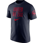 Nike Men's Gonzaga Bulldogs Blue Dri-Fit Verbiage Performance T-Shirt