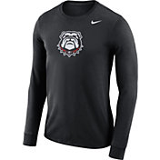 Nike Men's Georgia Bulldogs Black Dri-FIT Logo Long Sleeve Shirt