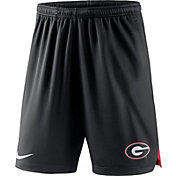 Nike Men's Georgia Bulldogs Knit Football Performance Black Shorts