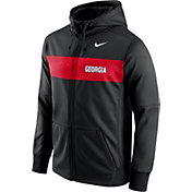 Nike Men's Georgia Bulldogs Black Therma-FIT Full-Zip Sideline Hoodie