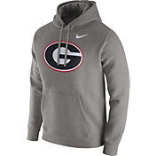 Nike Men's Georgia Bulldogs Grey Club Fleece Hoodie