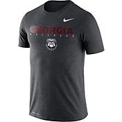 Nike Men's Georgia Bulldogs Grey Football Dri-FIT Facility T-Shirt