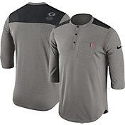 Nike Men's Georgia Bulldogs Grey Dri-FIT Henley Shirt