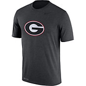 Nike Men's Georgia Bulldogs Grey Logo Dry Legend T-Shirt