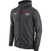 Nike Men's Georgia Bulldogs Heathered Grey Football Travel Full-Zip Hoodie