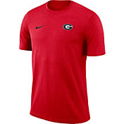 Nike Men's Georgia Bulldogs Red Coach Football T-Shirt