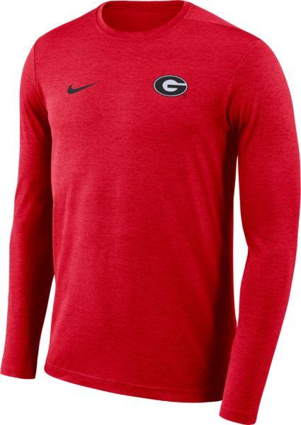 16e846bc Nike Men's Georgia Bulldogs Red Football Dri-FIT Coach Long Sleeve T-Shirt.  noImageFound. Previous. 1