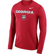 Nike Men's Georgia Bulldogs Red Football Dri-FIT Facility Long Sleeve T-Shirt