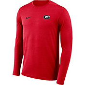 Nike Men's Georgia Bulldogs Red Football Dri-FIT Coach Long Sleeve T-Shirt