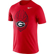 Nike Men's Georgia Bulldogs Red Dri-FIT Football Icon T-Shirt