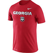 Nike Men's Georgia Bulldogs Red Football Dri-FIT Facility T-Shirt